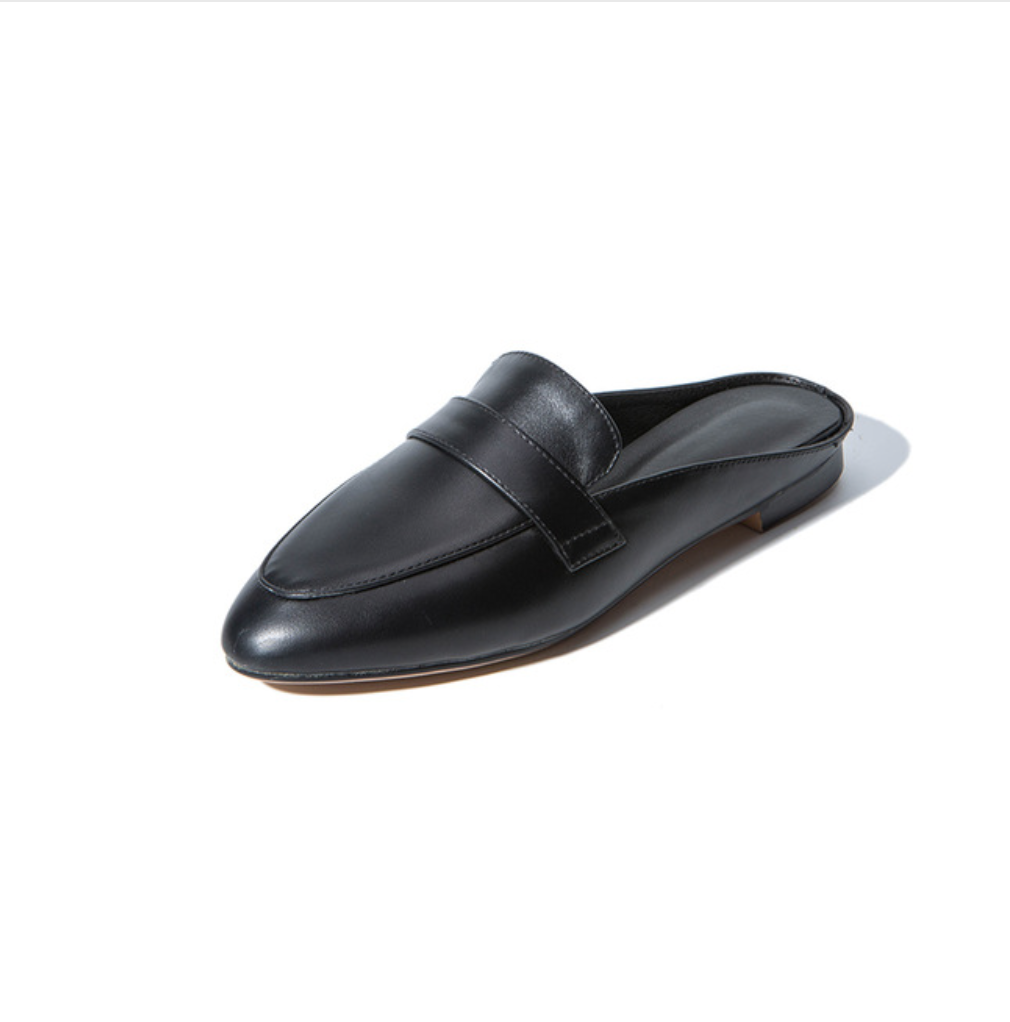 Low Heel Mules - Black | Style Limits